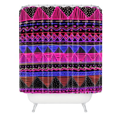 Alvis Ocean T Neon Polyester Shower Curtain