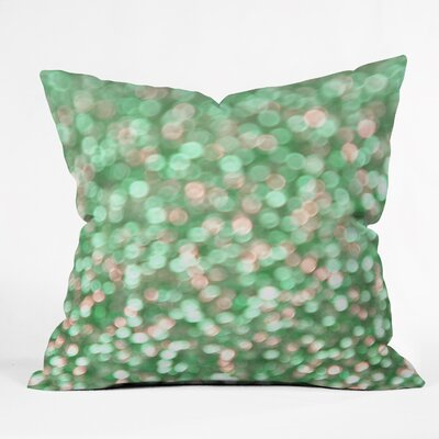 Barrientes Holiday Cheer Mint Indoor/Outdoor Throw Pillow Size: Large