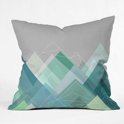 Cote Graphic Outdoor Throw Pillow Size: 16 H x 16 W x 4 D