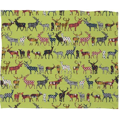Dake Pistachio Spice Deer Plush Fleece Throw Blanket Size: Medium