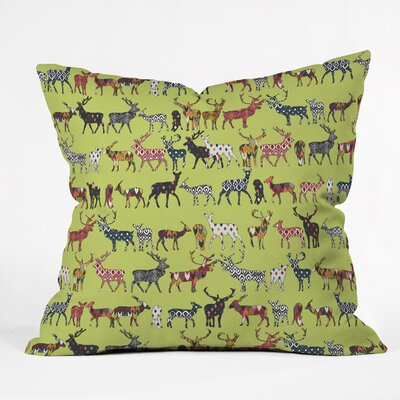Almodovar Pistachio Spice Deer Throw Pillow Size: Large