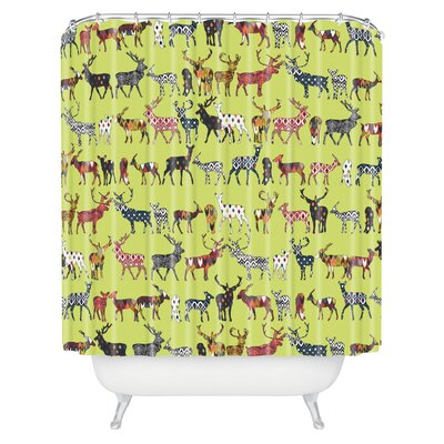 Diener Pistachio Spice Deer Shower Curtain