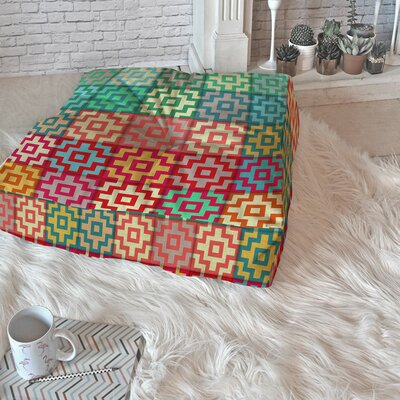 Gadberry Marrakech Square Floor Pillow Size: 26 H x 26 W x 6 D