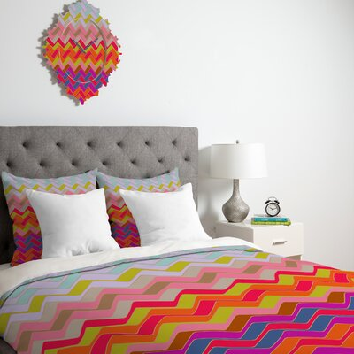 Darosa Geo Chevron Duvet Cover Size: Queen, Fabric: Lightweight