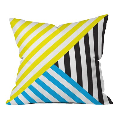 Ahlstrom Wave Indoor/Outdoor Throw Pillow Size: 18 H x 18 W