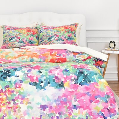 Fishel Secret Garden 1 Duvet Cover Set Size: Queen