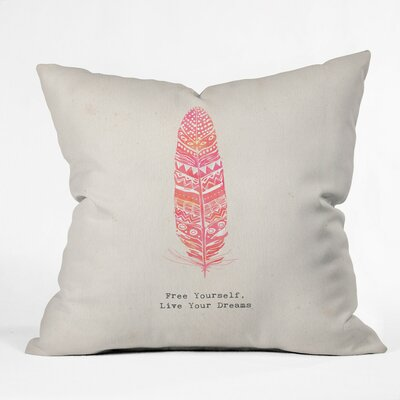 Gaeta Kangarui Free Yourself Feather Outdoor Throw Pillow Size: 18 H x 18 W x 5 D