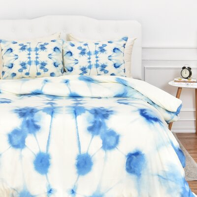 Fishel Mirror Dye Duvet Cover Set Size: Queen