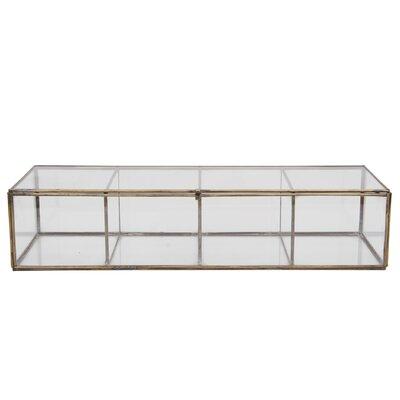 Brayden Studio Decorative Glass and Brass Box