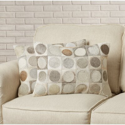 Brigitte Cowhide Decorative Throw Pillow