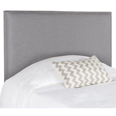 Farringdon Upholstered Wingback Headboard Size: Full, Color: Arctic Gray, Upholstery: Polyester