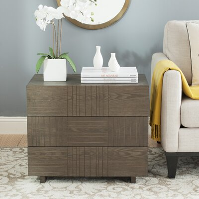 Funderburg 3 Drawer Chest Finish: Dark Brown