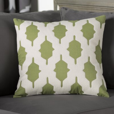 Meadors Throw Pillow Size: 22 H x 22 W x 4 D, Color: Olive, Filler: Down