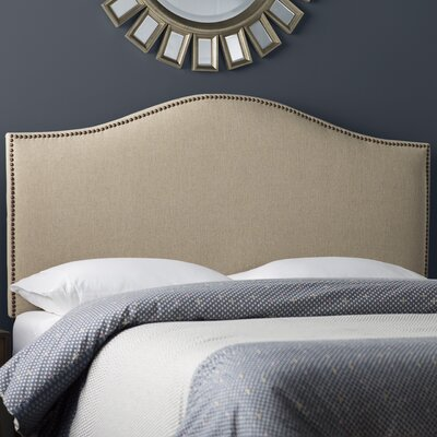 Rumford Upholstered Panel Headboard Size: Full, Color: Hemp, Upholstery: Linen