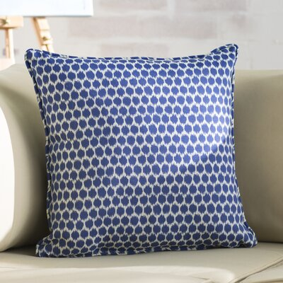 Eris Indoor/Outdoor Throw Pillow Fabric: Navy