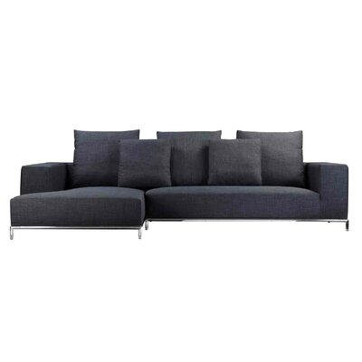Halpin Sectional Orientation: Left Hand Facing, Upholstery: Charcoal