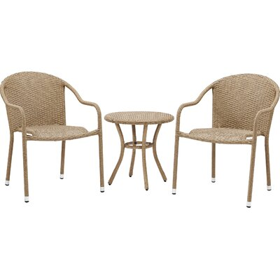 Belton 3 Piece Seating Group Finish: Light Brown