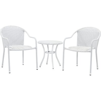 Crosson 3 Piece Seating Group Finish: White