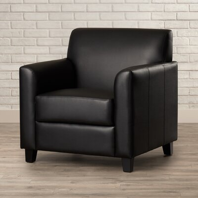 Muldoon Leather Lounge Chair Seat Color: Black