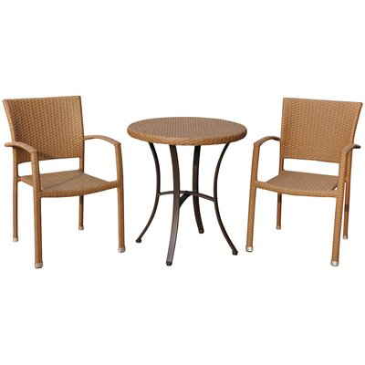 Katzer 3 Piece Bistro Set Finish: Honey