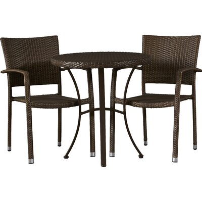 Katzer 3 Piece Bistro Set Finish: Antique Brown