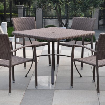 Katzer Patio Dining Table Finish: Antique Brown