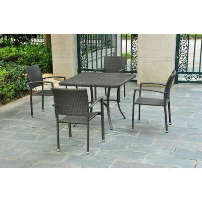 Katzer Patio Dining Table Finish: Black Antique
