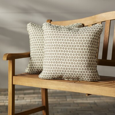 Eris Indoor/Outdoor Throw Pillow Fabric: Sterling