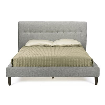 Logsdon Upholstered Platform Bed Upholstery: Gray, Size: King