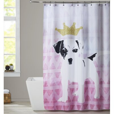 Ikonolexi Dog 1 Shower Curtain color: Pink