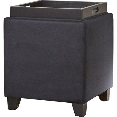 Nicholson Cube Storage Ottoman Upholstery: Black