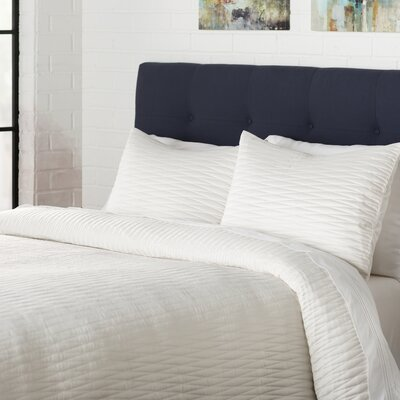 Arignote Reversible Quilt Set Size: Queen, Color: Ivory