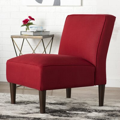 Linen Slipper Chair Color: Linen Antique Red
