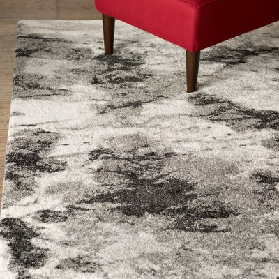 Bussiere Ivory / Gray Area Rug Rug Size: Rectangle 4 x 6