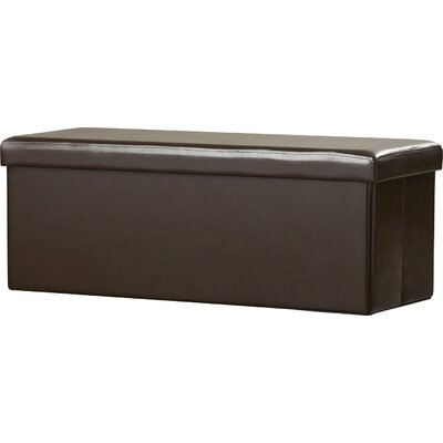 Meidinger Rectangular Folding Ottoman Upholstery: Distressed Coffee