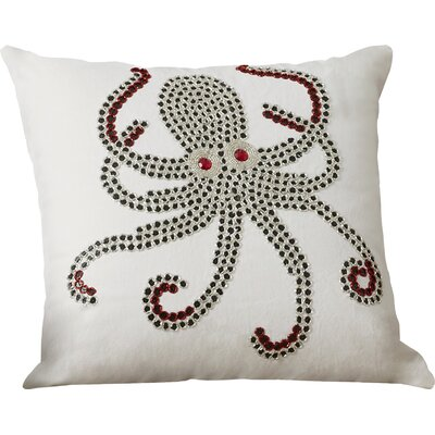 Octopus Indoor/Outdoor Throw Pillow Color: White