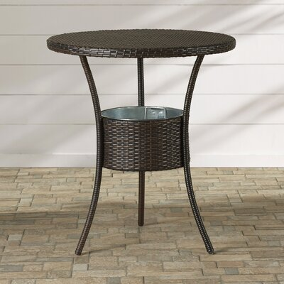 Mattison Wicker Table with Ice Pail