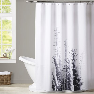 Melinda Wood Cactus Shower Curtain