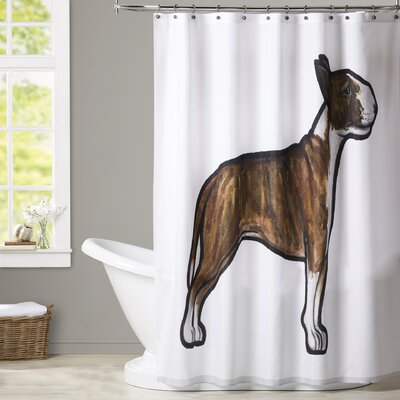 Spiro English Bulldog 3 Shower Curtain