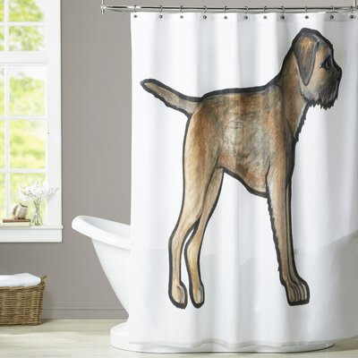 Lightle Border Terrier Shower Curtain