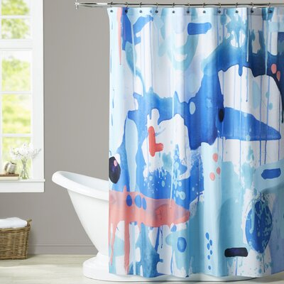 Deb McNaughton Abstract Drips Shower Curtain