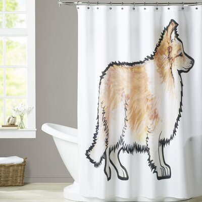 Veach Sheltie Shower Curtain