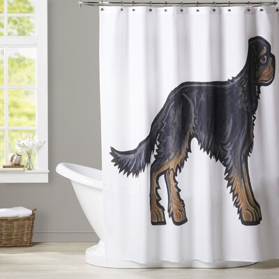 Mcmath Cocker BW Shower Curtain