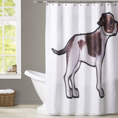 Quach Bull Terrier 2 Shower Curtain