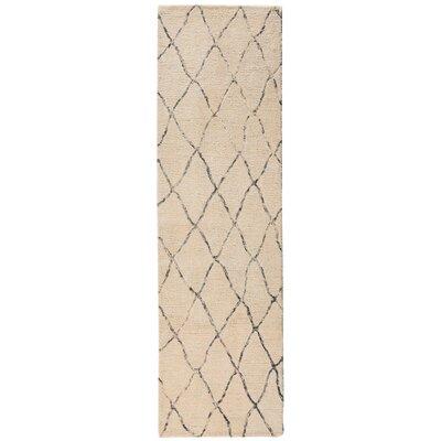 Nolhan Handmade Sand Area Rug Rug Size: Runner 23 x 8