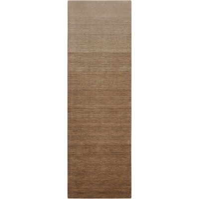 Fidel Handmade Smoke Sandstone Area Rug Rug Size: Runner 23 x 76