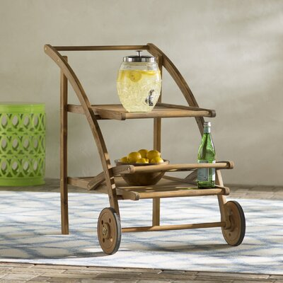 Mathes Tea Serving Cart Finish: Teak Look
