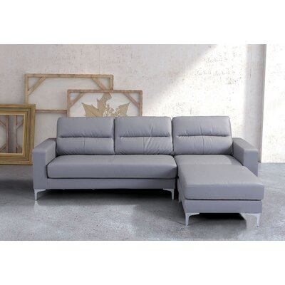 Nott Reversible Sectional Upholstery: Gray