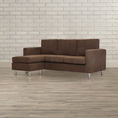 Lutz Reversible Chaise Sectional Color: Brown