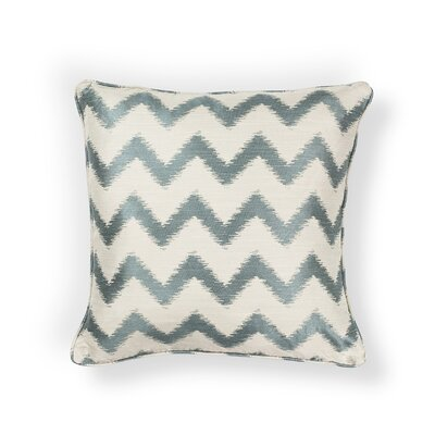Mcentee Indoor/Outdoor Chevron Throw Pillow Size: 18 H x 18 W x 0.5 D, Color: Ivory/Light Blue
